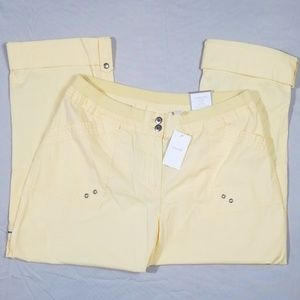 Chico's Cool Cargo Pants Golden Haze Size 2 NWT